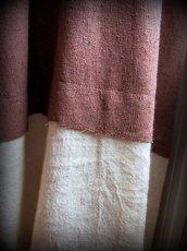 画像18: 再入荷★年中使える♪地球に優しい手紡ぎ・手織りローシルクのロングワンピース(brown&cream)*野蚕絹 (18)