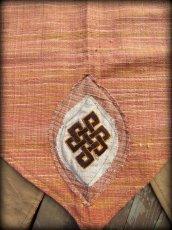 画像5: チベット吉祥模様「エンドレスノット」刺繍パッチ付きオーガニック手織りカディコットンベスト*フェアトレード*エコロジー*エスニック*ヒッピー*トライバル (5)