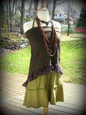 画像14: 再入荷★マルチに使える!!カナダ発ブランド Sati Creation オーガニックコットン ジプシースカート*フラメンコ*フェアトレード*ダンス衣装*フェスティバル (14)