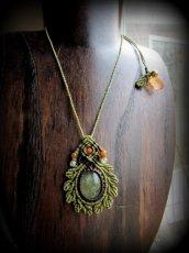 画像4: 癒しの天然石プレナイトのデザインネックレス*天然石*パワーストーン*マクラメ (4)