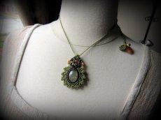 画像6: 癒しの天然石プレナイトのデザインネックレス*天然石*パワーストーン*マクラメ (6)