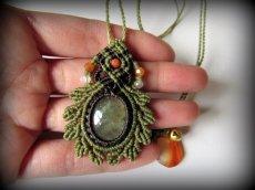 画像3: 癒しの天然石プレナイトのデザインネックレス*天然石*パワーストーン*マクラメ (3)