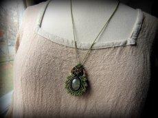 画像7: 癒しの天然石プレナイトのデザインネックレス*天然石*パワーストーン*マクラメ (7)