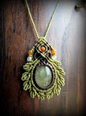 画像5: 癒しの天然石プレナイトのデザインネックレス*天然石*パワーストーン*マクラメ (5)