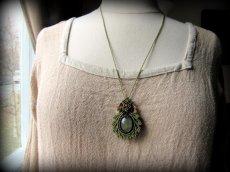 画像8: 癒しの天然石プレナイトのデザインネックレス*天然石*パワーストーン*マクラメ (8)