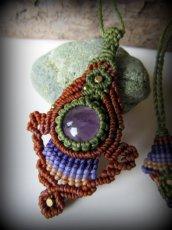 画像3: まんまるアメジスト天然石デザインネックレス*紫水晶*マクラメ*ハンドメイド*アメシスト (3)