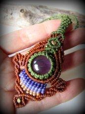 画像2: まんまるアメジスト天然石デザインネックレス*紫水晶*マクラメ*ハンドメイド*アメシスト (2)