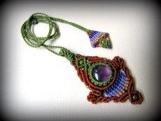 画像11: まんまるアメジスト天然石デザインネックレス*紫水晶*マクラメ*ハンドメイド*アメシスト (11)