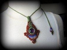 画像6: まんまるアメジスト天然石デザインネックレス*紫水晶*マクラメ*ハンドメイド*アメシスト (6)