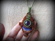 画像9: まんまるアメジスト天然石デザインネックレス*紫水晶*マクラメ*ハンドメイド*アメシスト (9)