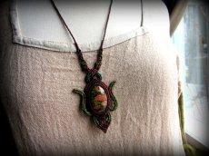 画像7: 癒しの天然石ユナカイトのデザインネックレス*マクラメ*パワーストーン*ヒッピー*ボヘミアン (7)