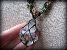 画像13: ドリームクリスタル大きなハーキマーダイアモンド/ハーキマー水晶ネックレス*マクラメ*ハンドメイド*水晶*クリスタル (13)