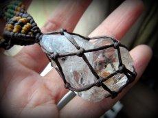 画像5: ドリームクリスタル大きなハーキマーダイアモンド/ハーキマー水晶ネックレス*マクラメ*ハンドメイド*水晶*クリスタル (5)