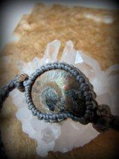 画像8: アンモナイト化石(マダガスカル産)ブレスレット*マクラメアクセサリー (8)