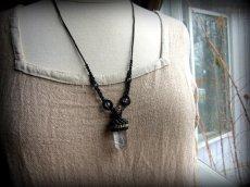 画像9: 仕事運・金運アップの石ブラックルチルクォーツ ネックレス*マクラメ編み*黒針水晶ポイント*トルマリンクォーツ (9)