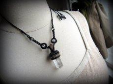 画像7: 仕事運・金運アップの石ブラックルチルクォーツ ネックレス*マクラメ編み*黒針水晶ポイント*トルマリンクォーツ (7)