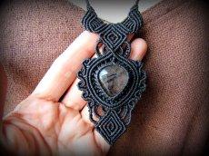画像11: 浄化の石トルマリンインクォーツ ネックレス マクラメ編み*水晶*トルマリンクォーツ (11)