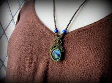 画像8: 夢の実現をサポートする虹色ラブラドライトのネックレス*マクラメ*天然石*パワーストーン (8)