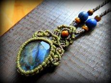画像5: 夢の実現をサポートする虹色ラブラドライトのネックレス*マクラメ*天然石*パワーストーン (5)