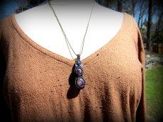 画像6: 1点物 天然アメジスト原石ネックレス/ペンダント*ハンドメイド天然石アクセサリー*アメシスト紫水晶 (6)