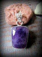 画像7: インスピレーションを高めるアメジストのペンダントトップ*紫水晶パワーストーン天然石 (7)