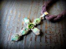 画像7: 1点物★エチオピア産オパール原石ペンダント*シルバー925*クロスデザイン (7)