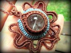画像3: 虹入り♪浄化の石トルマリンインクォーツ ネックレス マクラメ編み*水晶*トルマリンクォーツ (3)