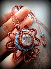 画像2: 虹入り♪浄化の石トルマリンインクォーツ ネックレス マクラメ編み*水晶*トルマリンクォーツ (2)