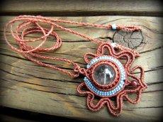 画像11: 虹入り♪浄化の石トルマリンインクォーツ ネックレス マクラメ編み*水晶*トルマリンクォーツ (11)