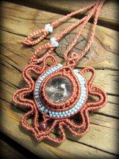 画像8: 虹入り♪浄化の石トルマリンインクォーツ ネックレス マクラメ編み*水晶*トルマリンクォーツ (8)