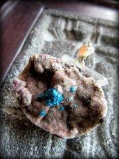 画像1: 1点物★大きな母岩付きカバンサイト&ブルートパーズ★ペンダントトップ★シルバー925★スターリングシルバー★鉱物 (1)