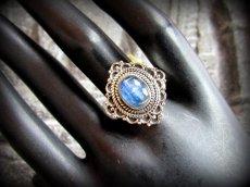 画像7: 1点もの高品質ブルーカイヤナイト リング/指輪★15号★カイアナイト ハンドメイド ヒーリングストーン ジュエリー  天然石アクセサリー (7)