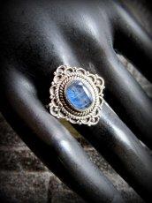 画像8: 1点もの高品質ブルーカイヤナイト リング/指輪★15号★カイアナイト ハンドメイド ヒーリングストーン ジュエリー  天然石アクセサリー (8)