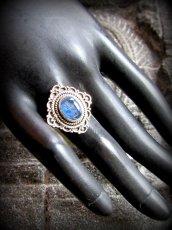 画像6: 1点もの高品質ブルーカイヤナイト リング/指輪★15号★カイアナイト ハンドメイド ヒーリングストーン ジュエリー  天然石アクセサリー (6)