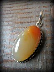 画像7: 1点もの*夕焼け色オレンジアゲート天然石ペンダント*魔よけパワーストーン瑪瑙メノウ (7)