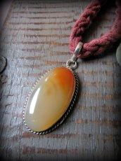 画像8: 1点もの*夕焼け色オレンジアゲート天然石ペンダント*魔よけパワーストーン瑪瑙メノウ (8)