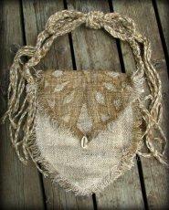 画像4: 残り1点☆ヒップバッグにもなる地球に優しい手紡ぎ・手織りヘンプ&ローシルクのhandmade妖精バッグ/ウエストバック/ピクシーバック (4)