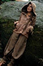 画像6: 身体に優しいあったか手織りウールのアステカ文様刺繍ハンドメイドアラジンパンツ (6)