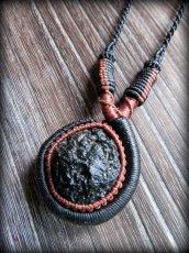 画像12: 隕石が生む石テクタイト原石 天然石ネックレス*レアストーン*マクラメ編み*石包み*パワーストーン (12)
