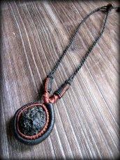画像10: 隕石が生む石テクタイト原石 天然石ネックレス*レアストーン*マクラメ編み*石包み*パワーストーン (10)