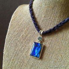 画像5: 高品質ディープブルー ラブラドライト 1点ものペンダントwith 宝石質ブルートパーズ スターリングシルバー (5)
