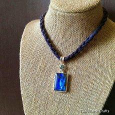 画像3: 高品質ディープブルー ラブラドライト 1点ものペンダントwith 宝石質ブルートパーズ スターリングシルバー (3)