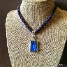 画像4: 高品質ディープブルー ラブラドライト 1点ものペンダントwith 宝石質ブルートパーズ スターリングシルバー (4)