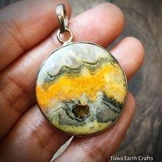 画像16: 皆既日食模様 上質まんまる満月型エクリプスストーン シンプルペンダントトップ★スターリングシルバー (16)