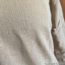 画像5: 地球に優しい手紡ぎ手織りローシルク野蚕絹フォレストワンピース*生成りクリーム・ロングスリーブ長袖 ベジタリアンシルク (5)