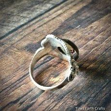 画像13: 1点物 高品質ラブラドライト シルバーリング ブルーシラー指輪14号 エスニックデザイン 天然石パワーストーンアクセサリー (13)