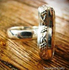 画像2: アンモナイト化石の指輪リング16号*鉱物ミネラル天然石アクセサリー (2)