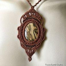 画像8: 【聖なる石】ピクチャージャスパー(オーストラリア産)ネックレス/ペンダント*マクラメ天然石アクセサリー (8)
