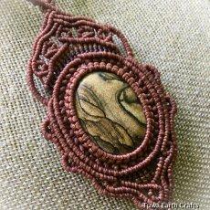 画像13: 【聖なる石】ピクチャージャスパー(オーストラリア産)ネックレス/ペンダント*マクラメ天然石アクセサリー (13)
