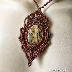 画像7: 【聖なる石】ピクチャージャスパー(オーストラリア産)ネックレス/ペンダント*マクラメ天然石アクセサリー (7)